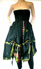 Black DRAW STRING Dress WENCH Boho BELLY Festival SKIRT HIPPY Steampunk LADIES