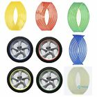 """17"""" Reflective Motorcycle Rim Stripe Wheel Tape Decal Stickers Red Gold Silver"""