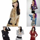 1Pc Shine Glitter Sequin Girl Short Jacket Coat Crop Top Hot Jazz Dance Costume