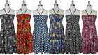 NWT Women Rayon Tiered Layered Smocked Halter Dress/Cover Up by Jon & Anna S-L