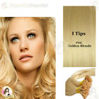 "17""DIY kit Indian Remy Human Hair I tips/micro beads  Extensions  AAA GRADE #22"
