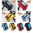 Cycling Bicycle Bike Frame Pannier Front Tube Bag 4.2/4.8'' Mobile Phone Holder