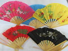 5 FANS CHINESE JAPANESE GEISHA FANCY DRESS BURLESQUE COLOURFUL COSTUME FANS 30cm