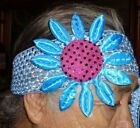 Crochet Hairband with Large Flower choose 1 out of 6 colors