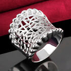 Hot! Ladies Fashion Amazing Hollow Out 925 Sterling Silver Big Ring Jewelry A851