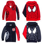 Spider-Man Marvel Hero Kids Boys Girls Contrast Hoodies Unisex Coat Jacket Age