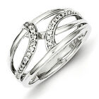 Sterling Silver Diamond Fashion Ring. Carat Wt- 0.15ct. Metal Wt- 2.88g