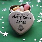 Merry Xmas Arran Mini Heart Tin Gift Present Happy Christmas Stocking Filler
