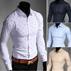 T227 New Men's Luxury Casual Slim Fit Long Sleeves Dress Shirts 4 Color 5 Size
