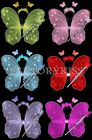 3PCS 6 Colors Set Halloween Headwear Fairy Gold Butterfly Wing Angle Wing WUS