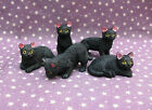 dolls house Black Cats Witch Wizard Spooky Halloween Miniatures