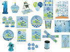 1st FIRST BIRTHDAY BOY PARTY TABLEWARE DECORATIONS BALLOONS BLUE TURTLE DESIGN