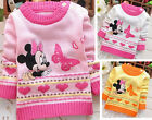 Baby Girls Cute Cotton Knit Mouse Pullover Coat Winter Warm Cotton Outerwear