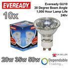 10 x EVEREADY GU10 20w, 35w and 50w Halogen Light Bulbs Spots 240v 38 deg flood
