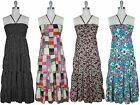 NWT Women Halter Strapless Rayon Layered Smocked Summer Dress by Jon & Anna