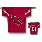 Arizona Cardinals NFL Jersey Shaped House Flag