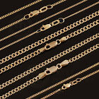 GENUINE HALLMARKED 18Ct SOLID Yellow GOLD Curb NECKLACE CHAIN LengthWidth Option