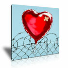 BANKSY - Love Hurts Graffiti Wall Art Canvas Print Framed Box ~ Many Sizes