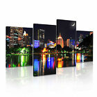 THAILAND BANGKOK City Skyline Canvas Framed Print ~ 4 Panels