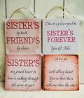 handmade plaque sign gift present sister sayings quotes christmas birthday heart