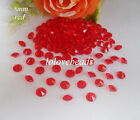 8mm 2CT Red Acrylic Diamond Confetti Wedding Party Table Scatters Vase Decor