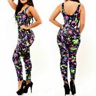 Floral Print Bodycon Sleeveless Jumpsuit Rompers Hot Lady Cocktail Club Wear S-L