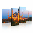 SULTAN AHMED MOSQUE Blue Mosque Istanbul Canvas Framed Print ~ 4 Panels