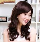 Sexy Women lady 3color long curly wave full Wig 50% human hair cosplay wig PO241