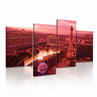Las Vegas 2 USA American Citysacape 4R-RH Framed Print Canvas Wall Art~ 4 Panels