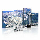 RIO 1 Brazil Citysacape 4R-RH Framed Print Canvas Wall Art~ 4 Panels