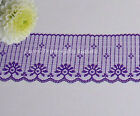 """Lace Trim Purple 2 Yards Candlewick 2-3/4"""" Scalloped E56AV More Ship Free BT2Y"""