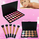 Bronzer 15 Concealer / 28 Blush Highlight Palette Powder Brush Face Makeup Kit