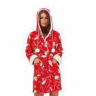 Womens Robe Boutique Ladies New Soft Hedgehog Christmas Dressing Gown Loungewear