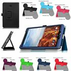Folio Leather Slim Case Cover Stand for Verizon Ellipsis 8 4G LTE 8-inch Tablet