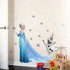 Disney ELSA Princess Frozen Wall Stickers Kids Room Removable Home Decor Decal