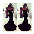 WOMEN LADY SEXY LONG PROM BALL COCKTAIL PARTY DRESS FORMAL EVENING GOWN SIZE6-18