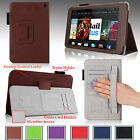 "For 2014 Amazon Kindle Fire HD 7"" Smart PU Leather Case Cover Stand w Hand Strap"