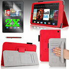 """For 2014 Amazon Kindle Fire HD 7"""" Smart PU Leather Case Cover Stand +Accessories"""