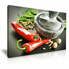 FOOD & DRINK Spice/Pepper 72 1L Framed Print Canvas Wall Art~ More Size