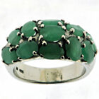 .925 Sterling Silver 4.95 Ct Emerald Ring