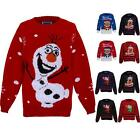 Children's Minion Olaf Santa Rudolf Reindeer Girls XMAS Christmas Knitted Jumper