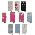 Luxury 3D Rhinestone Design PU Wallet Flip Stand Case Cover For iPhone 5 5G 5S