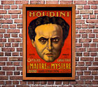 Houdini - Reproduction Vintage Theatre Advertisement Poster