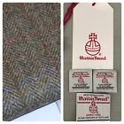 HARRIS TWEED FABRIC & LABELS Tartan 100% wool upholstery craft tailoring lot