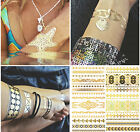 1 Sheet Temporary Metallic Gold Silver Black Flash Tattoo Flash Inspired fashion