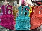 Sweet 16 Sixteen Number Favor Centerpiece Cake Topper Choose Color