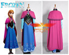 Disney Movie Frozen Snow Queen ANNA Dress Cosplay costume For Adult custom made
