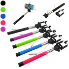 Extendable Cable Take Pole Selfie Stick Handheld Monopod Wired Shutter   Remote