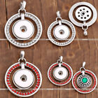 1x Crystal Movable Snap Button Charm Pendants Fit Buckle Necklace Gift DIY