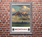 Northern Pacific - Montana - Vintage Railroad Travel Poster